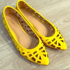 Yellow Cutout Flats from Express